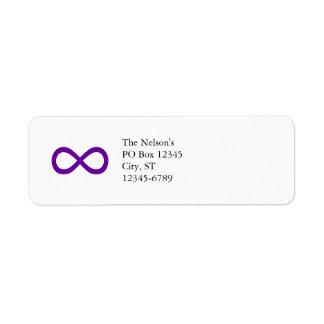 Purple Infinity Symbol Return Address Label
