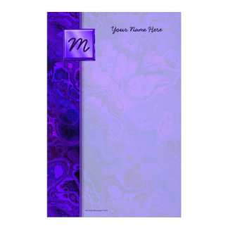 Purple Intensity Abstract Customized Stationery