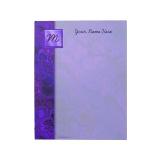 Purple Intensity Abstract Notepad