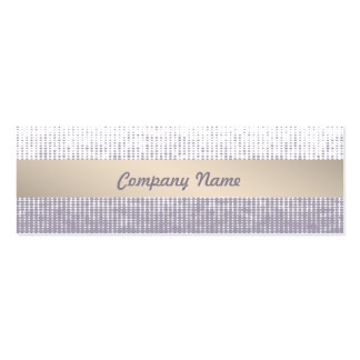 Purple Interior Designer Skinny Business Card
