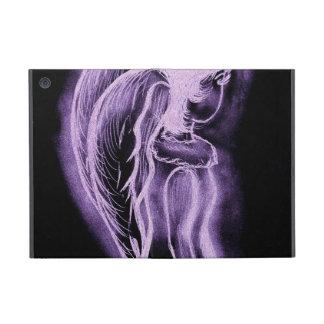 Purple Inverted Sideways Angel Cover For iPad Mini