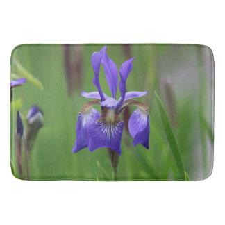 Purple iris bath mat
