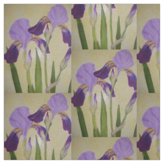 Purple Iris by bbillips Fabric