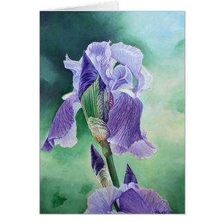"""Purple Iris"" Card"