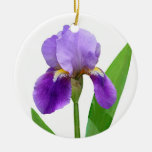 Purple Iris Christmas Ornament