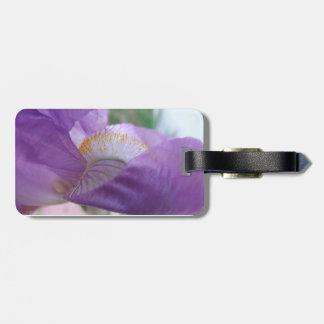 Purple Iris Closeup Luggage Tag
