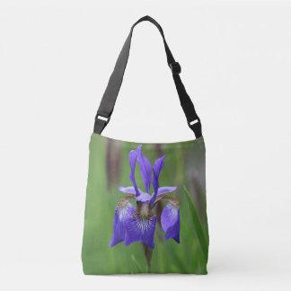 Purple Iris Crossbody Bag