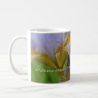 Purple Iris-Dreams come true Basic White Mug
