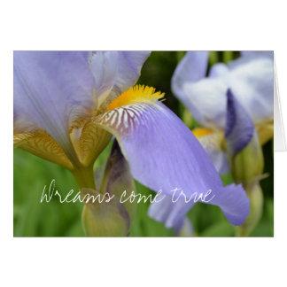 Purple Iris-Dreams come true Greeting Card