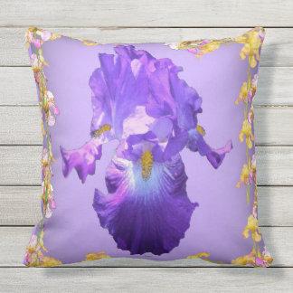 Purple Iris floral pattern Pillows