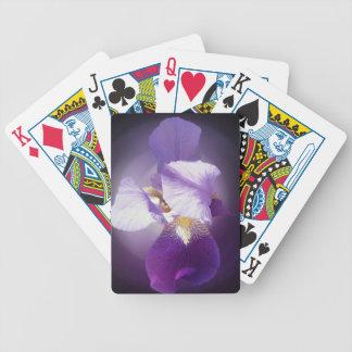 purple iris flower bicycle playing cards