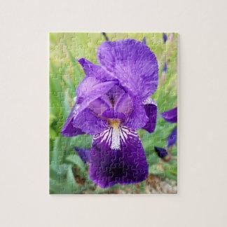 Purple Iris Flower Jigsaw Puzzle