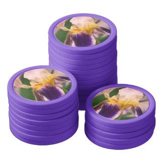 Purple Iris Flower Photo Clay Poker Chips