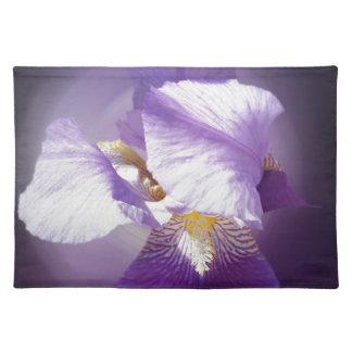 purple iris flower placemat