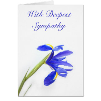 Purple Iris Flower Sympathy Card