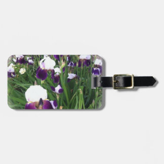Purple Iris Garden Bag Tag