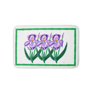 Purple Iris Garden Bathmat