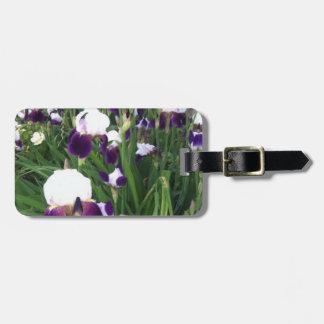 Purple Iris Garden Luggage Tag