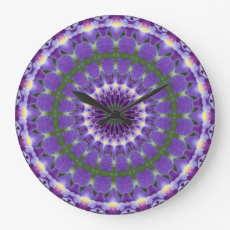 Purple Iris Kaleidoscope clock