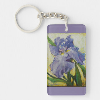 Purple iris key chain
