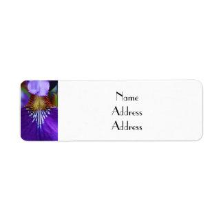 Purple Iris Return Address Label