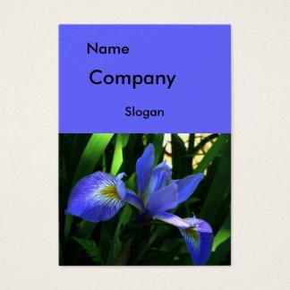 Purple Iris Large Business Card
