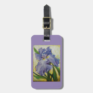 Purple Iris Luggage purse or key chain tag