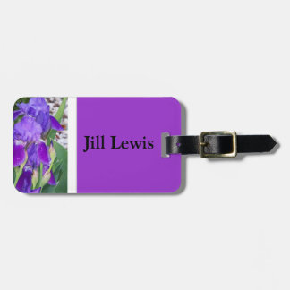 Purple Iris Luggage Tag