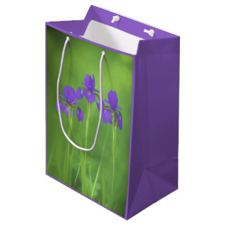 Purple Iris Medium Gift Bag