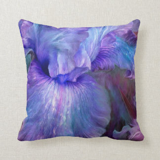Purple Iris Moods Art Decorator Pillow Throw Cushion
