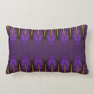 Purple Iris Nouveau Throw Pillow