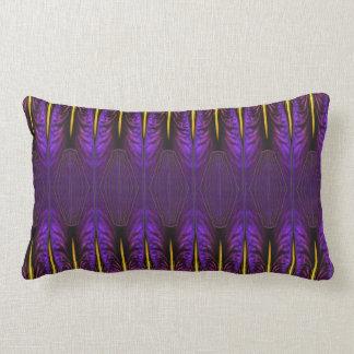 Purple Iris Nouveau Throw Pillow Cushions