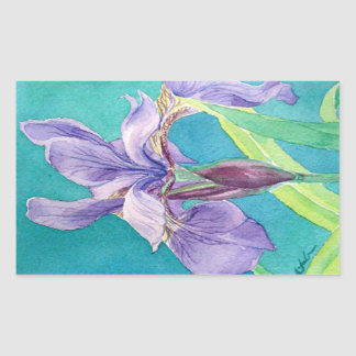 Purple Iris Rectangular Sticker