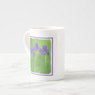 Purple Iris Tea Cup