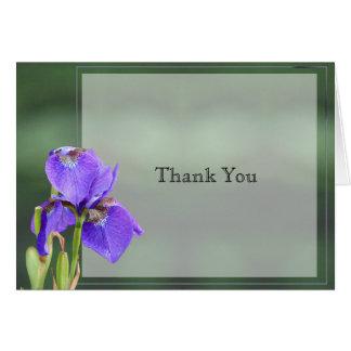 Purple Iris Wedding Anniversary Thank You Card