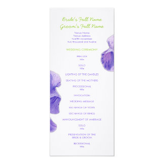 Purple Iris Wedding Program