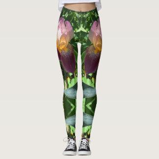 Purple Iris Yoga Pants