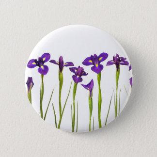 Purple Irises - Iris Flower Customized Template 6 Cm Round Badge