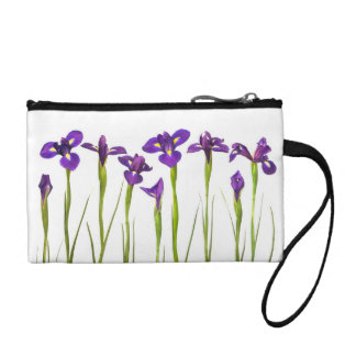 Purple Irises - Iris Flower Customized Template Coin Wallets