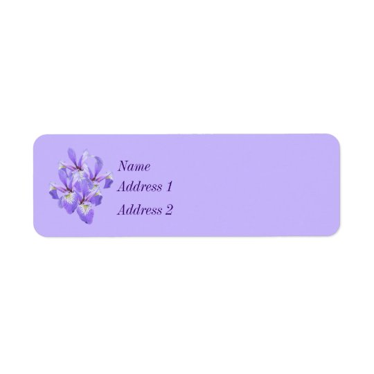 Purple Irises Touch of Spring Return Address Label