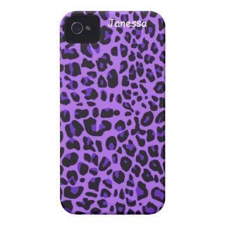 Purple Jaguar Print iPhone Case