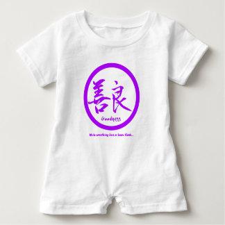 Purple Japanese kamon • Goodness kanji Baby Bodysuit