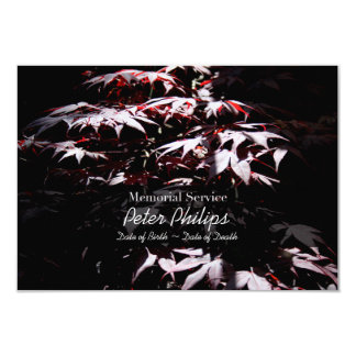 Purple Japanese Maple  Memorial Service Invitation