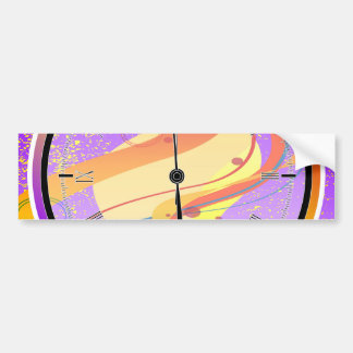 Purple Jazz Midnight Clock Bumper Sticker