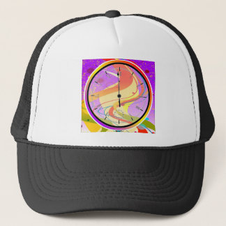Purple Jazz Midnight Clock Trucker Hat