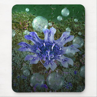 Purple Jellyfish Mouse Pad by Artful Oasis