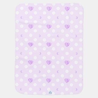 Purple Jewel and Polka Dots Pramblankets