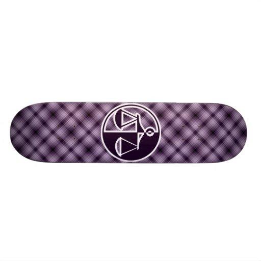 Purple Justice Scales Skate Board