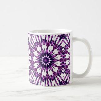 Purple Kaleidoscope effect mug