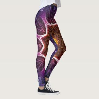 Purple kaleidoscope leggings